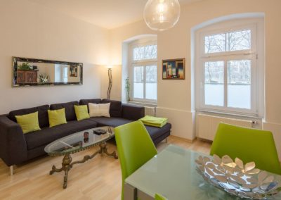 Ferienwohnung Erfurt Wohnzimmer